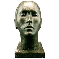 Mid-Century Modernist Bronze Bust of a Woman by Pedro Pruna O'Cerans (1904-1977)