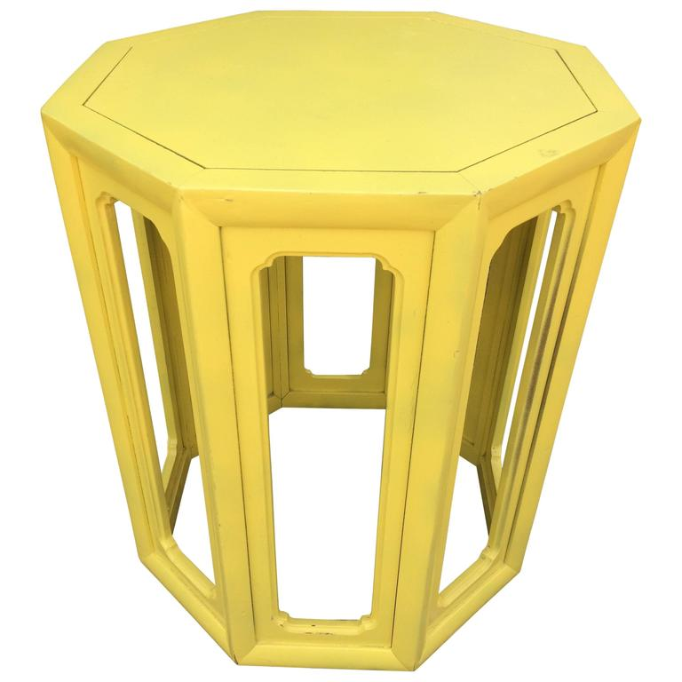 Fabulous Canary Yellow Moroccan Style Side Table