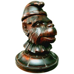 A Black Forest Humidor in the Form of a Monkey's Head, Switzerland Circa 1920