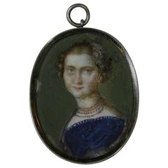 French Early 19th Century Miniature Portrait