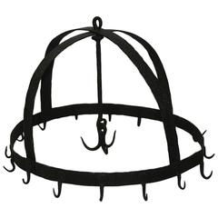17th-18th Century French Hand-Forged Iron Game Rack