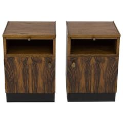 Pair of Art Deco Haagse School Nightstands by Paul Bromberg for Pander