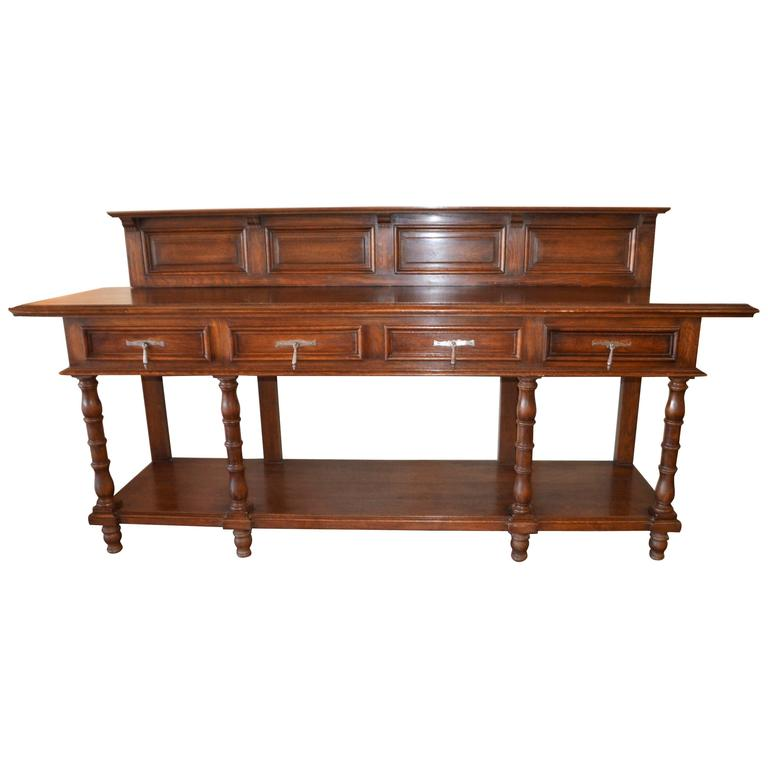 19th Century, Napoleon III Period Walnut & Oak Cabinet for Bar, Counter, Vanity