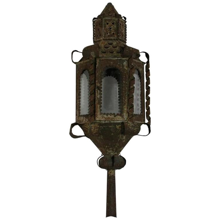 French 18th Century Tole Procession Lantern