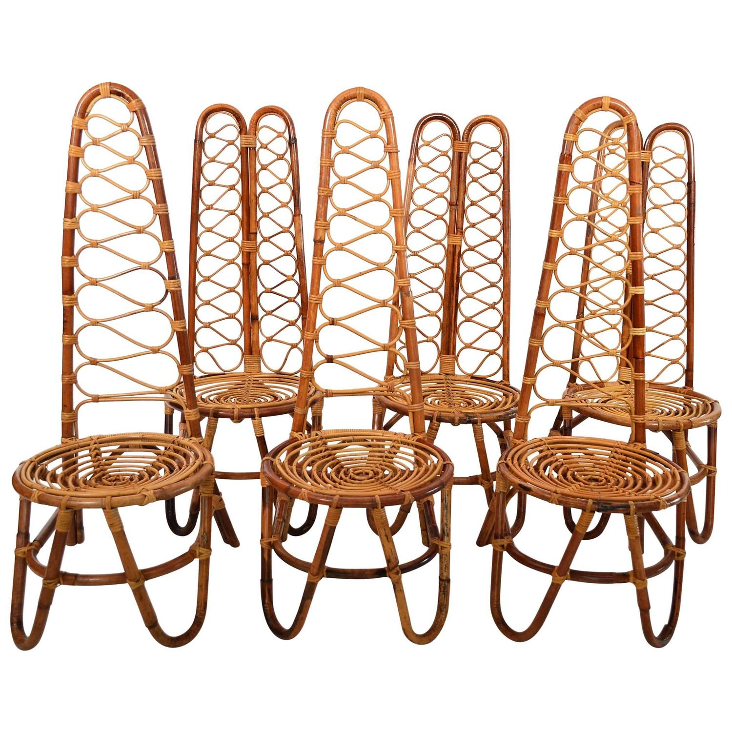 Bamboo Chairs 94 For Sale at 1stdibs
