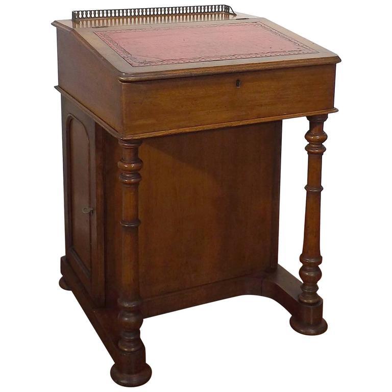 Victorian era english walnut davenport writing desk circa for Victorian age furniture