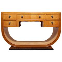 Art Deco Dressing Table in Bird's-Eye Maple