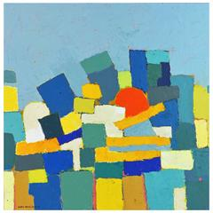 'Room With a View' Vibrant Modern Abstract by Lars Hegelund