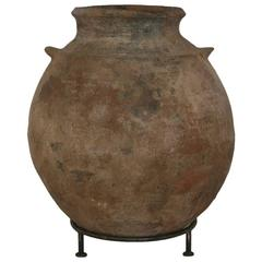 19th Century Moroccan Terracotta Storage Pot, Jar