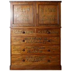 Victorian Blonde Mahogany Press, Advertising Shop Display