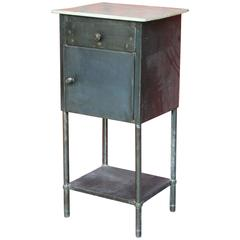 French Industrial Hospital Nightstand