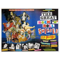 """The Great Rock 'n' Roll Swindle"" Film Poster, 1980"