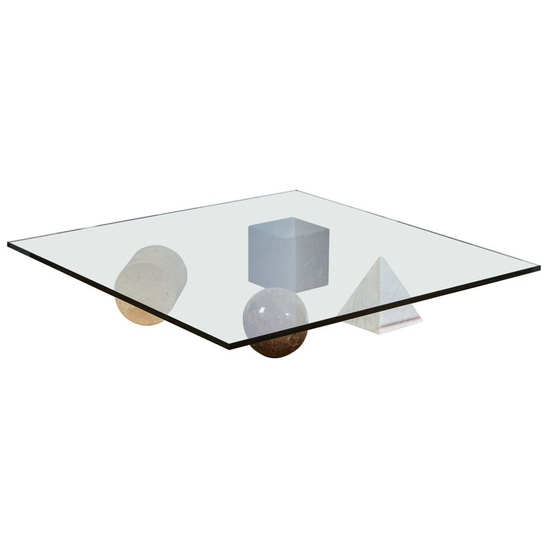"Marble ""Metaphora"" Coffee Table by Massimo and Leila Vignelli For Sale"