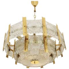 Beautiful Mid-Century Brass Chandelier