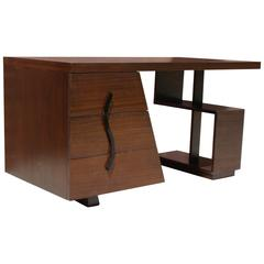 Art Deco Machine Age Architectural Desk in the Style of Paul Frankl, circa 1940s