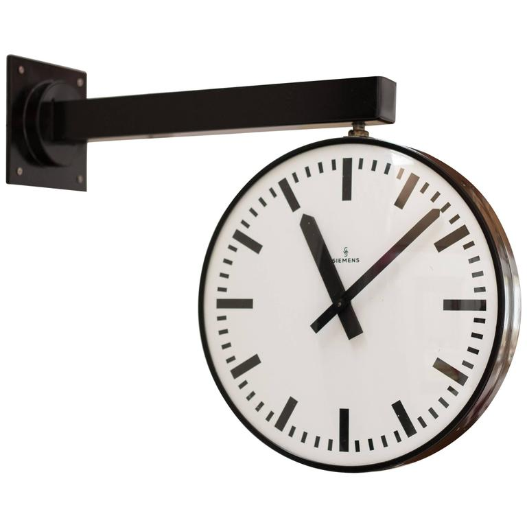 siemens double faced railway station clock 1