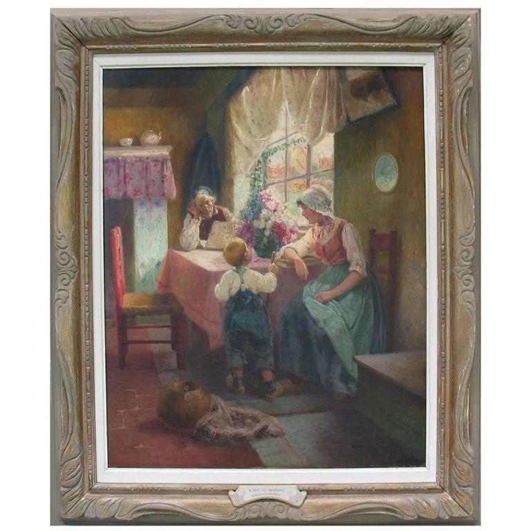 Superior Dutch Oil on Canvas by Adrian Van Der Hest, Amsterdam For Sale