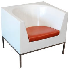 Massimo Vignelli Style Plastic Cube Lounge Chairs, 1970s