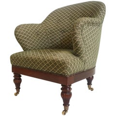 English Regency Style Tub or Club Chair Attributed to Howard and Sons