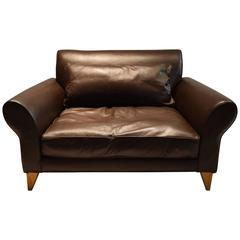 Wide Lounge Chair in Leather by Conran, UK 2000s