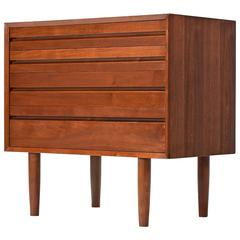 Danish Modern Walnut Commode Dresser Cabinet, 1960's