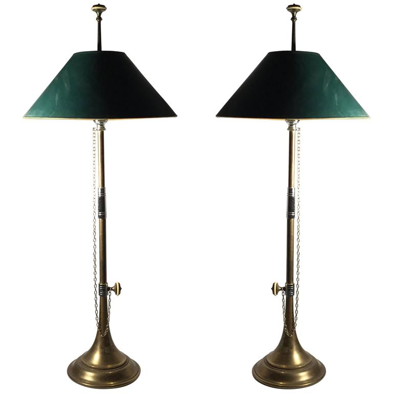 aefb74e8e4166 Vintage Pair of Classy Chapman Brass Trumpet Table Lamps For Sale at ...