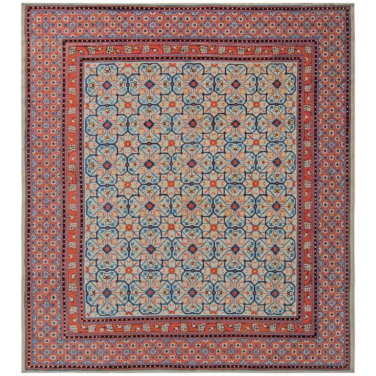 Rare Antique Khotan Samarkand Rug With Pomegranate Design