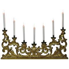 Large 18th Century Italian Giltwood Baroque Candleholder