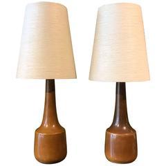 Pair of Lotte Bostlund Ceramic Lamps