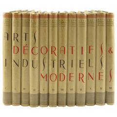 Arts Decoratifs et Industriels Modernes Encyclopedie Encyclopedia 12 Books, 1925
