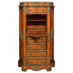 French Kingwood and Rosewood Secretaire a' Abbattant