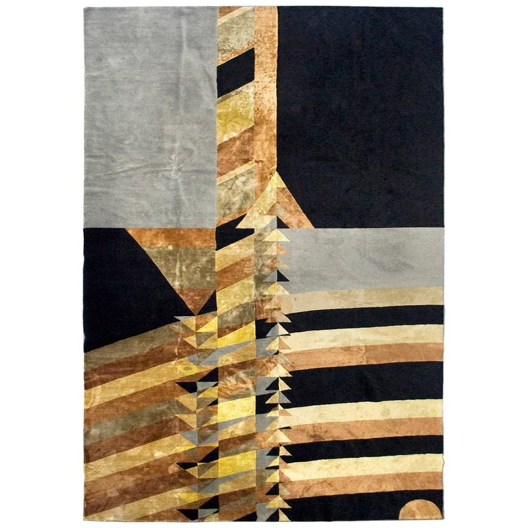 After frank lloyd wright may triangles rug bsb edition circa 2000 spain for sale at 1stdibs - Frank lloyd wright rugs ...