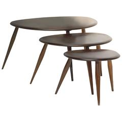 Mid 20th Century Ercol Pebble Nest of Tables in Golden Dawn