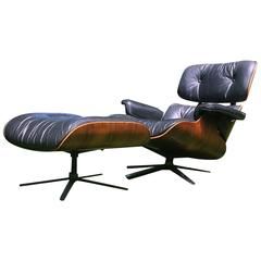 Herman Miller Eames Lounge Chair and Ottoman in Rosewood