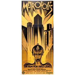 Large Sci-Fi Movie Poster for the Utopian Film Metropolis Directed by Fritz Lang