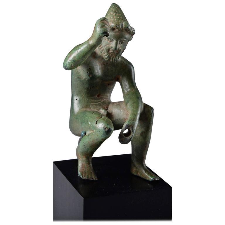 Ancient Greek Bronze Figure of Hephaistos, 400 BC For Sale
