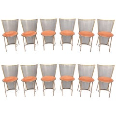 Post-modern Frans Van Praet Limited Edition Expo '92 Brass Chairs