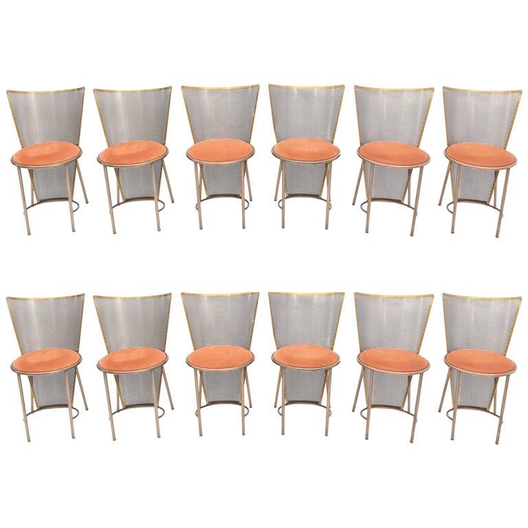 Post-modern Frans Van Praet Limited Edition Expo '92 Brass Chairs For Sale