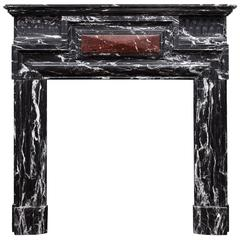 Antique Belgian Marble Fireplace