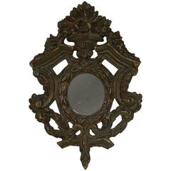Small 18th Century Italian Baroque Mirror