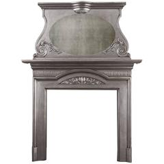 Art Nouveau Cast Iron Mantel