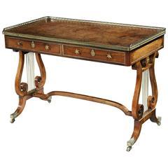 George III Regency Writing Table, Attributed to John Mclean