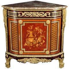 Corner Commode in Louis XV Style, Jean Henri Riesener