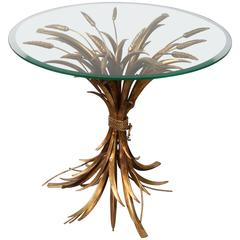 Wheat Sheaf Table in the Style of Coco Chanel, France, 1960s