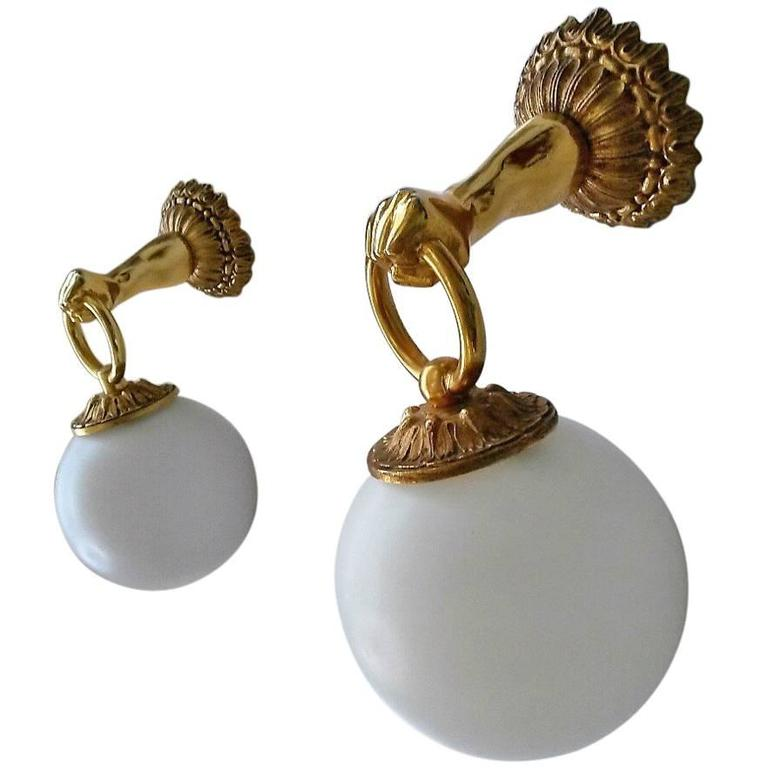 2 Pairs of  Neoclassical French Gilt Bronze  Sconces For Sale