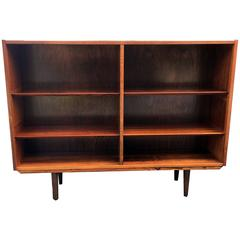 Danish Open Bookcase with Adjustable Shelves Probably by Poul Hundevad