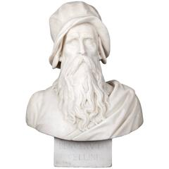 Antique Marble Bust of Cellini