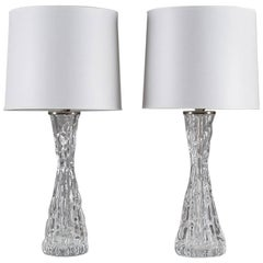Swedish Mid-Century Table Lamps by Carl Fagerlund for Orrefors