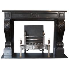Early 19th Century, Regency Neoclassical Black Marble Surround