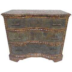 Maitland-Smith Etched Bronze and Coconut Shell Commode, circa 1970s